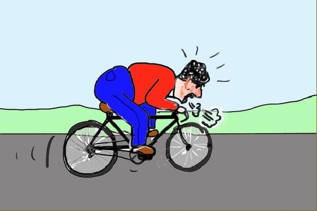 Fitness for Cycling Cartoon