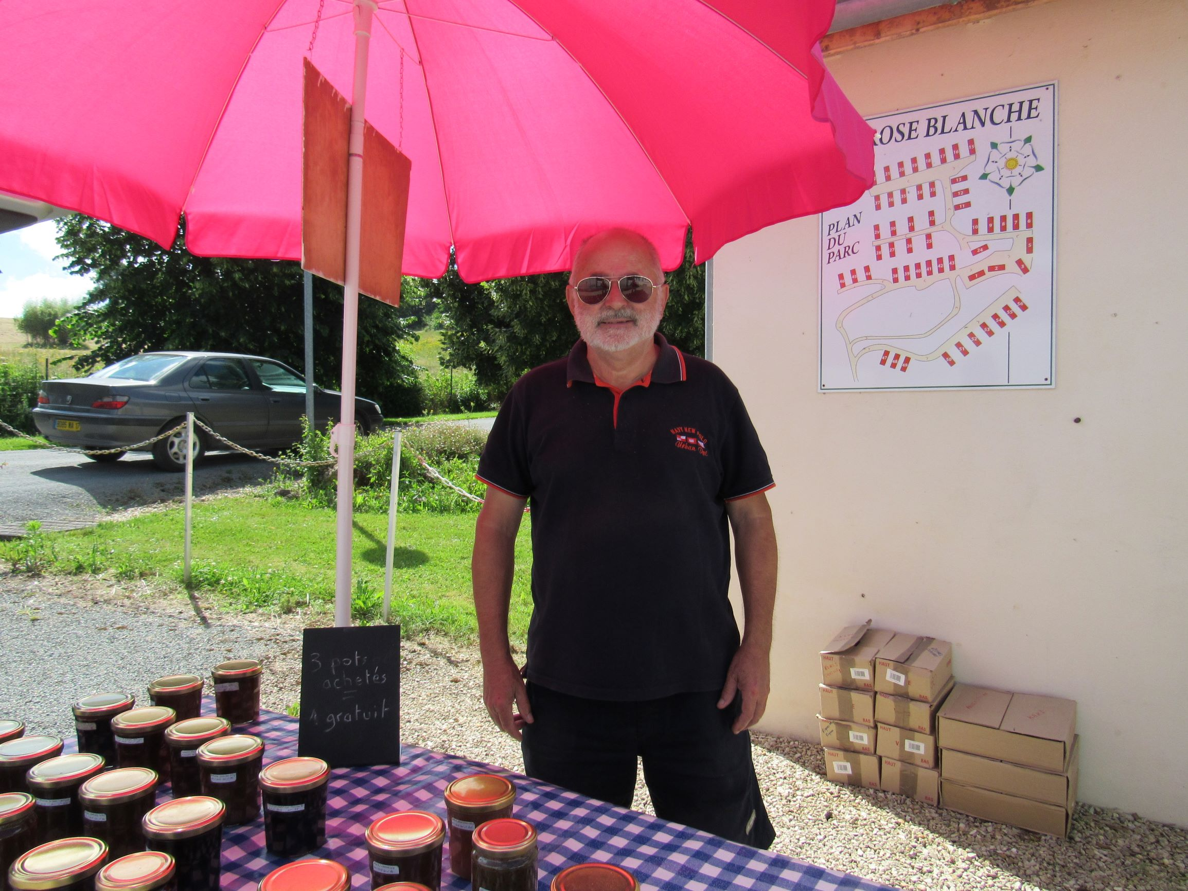 Jam Man, La Rose Blanche, on-Site Services, Home-made, jams, Confitures