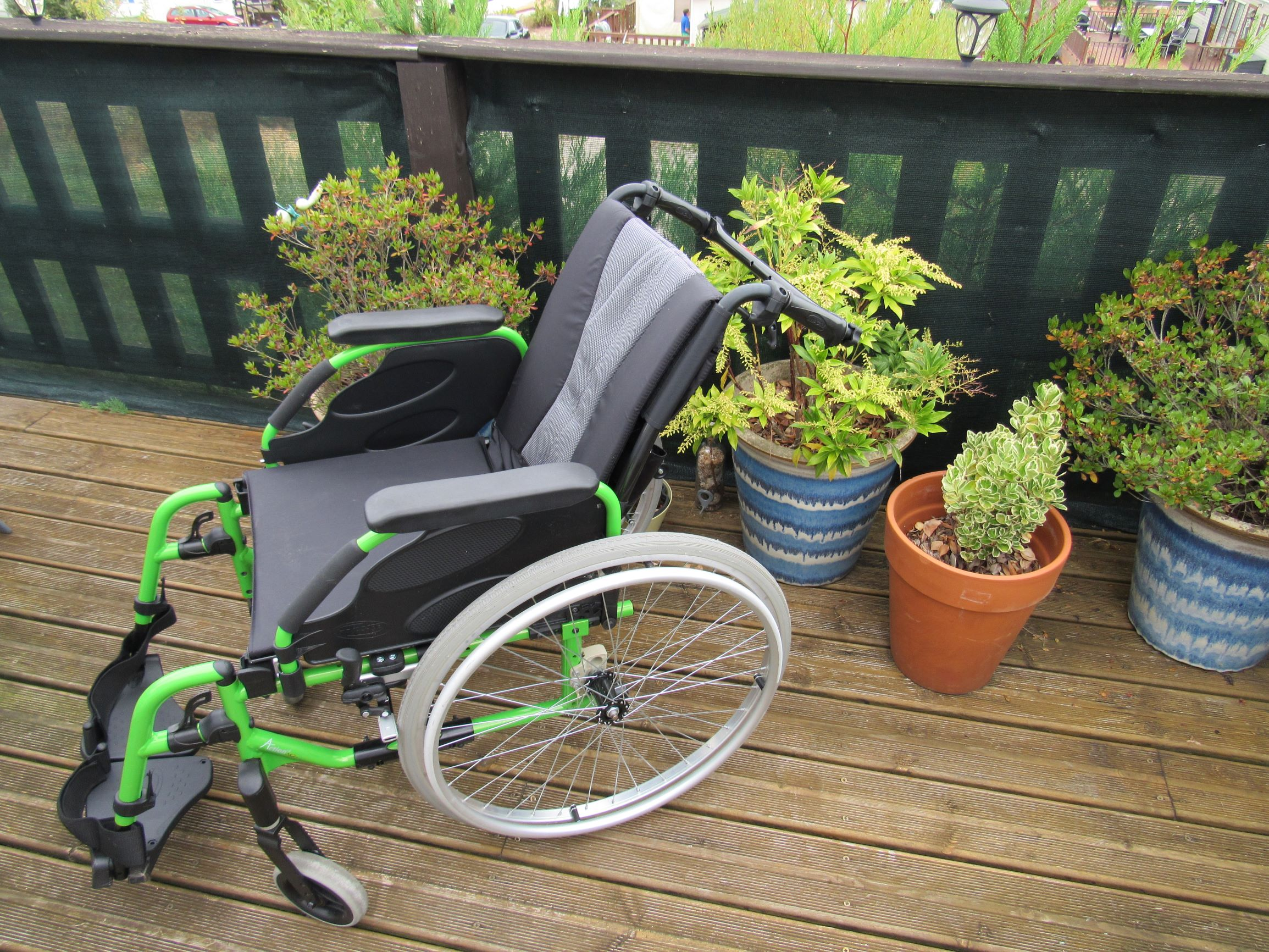 Wheelchair, temporary loan, La Rose Blanche, available for resident's, guests, visitors.